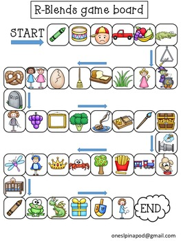 R-Blends, S-Blends & L-Blends Game Boards, Data Sheets and Vocabulary Cards