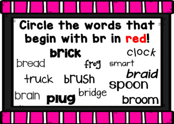 R Blends Smart Board Activities Phonics and Sounds