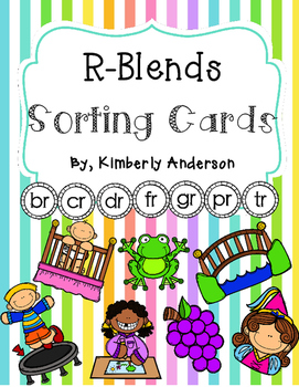 R-Blends Sorting Cards and Activity Sheets (R Blends)