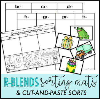 R Blends Sorting Mats and Cut-and-Paste Sorts