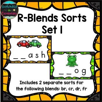R-Blends Sorts Set 1: br, cr, dr, fr