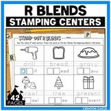 R Blends Worksheets for Stamping Center