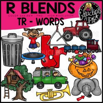 R Blends TR Words Clip Art Bundle {Educlips Clipart}