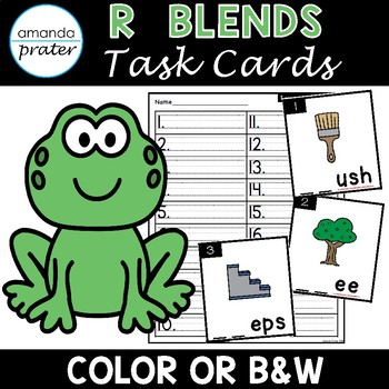 R Blends Task Cards (Scoot, Write the Room, Center)