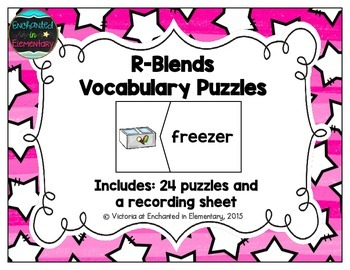 R-Blends Vocabulary Puzzles