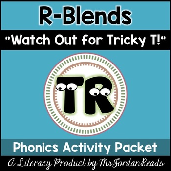 """R Blends: """"Watch Out for Tricky T!"""" Poem & Phonics Activities"""