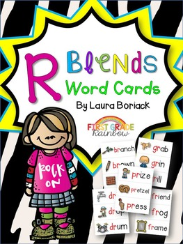R Blends Word Cards