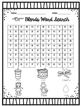R Blends Word Search Packet