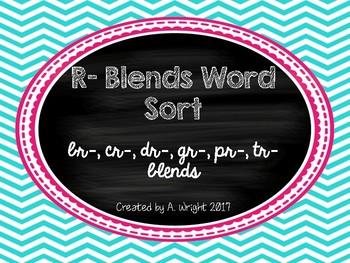 R-Blends Word Sort