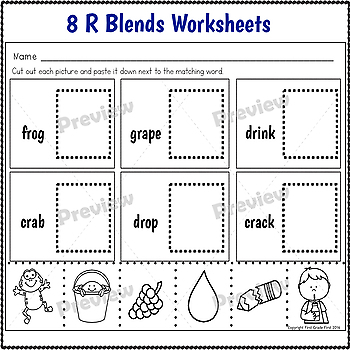 R Blends Activities