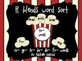 R Blends Word Sort Center cr- gr- tr- br- dr- fr-