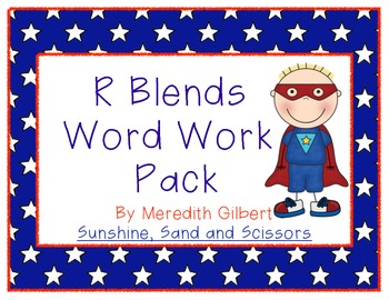R Blends Word Work Pack