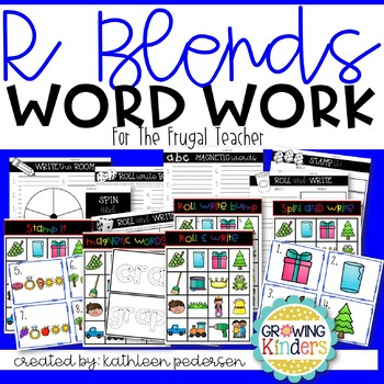 R Blends Word Work for the Frugal Teacher