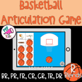R Blends Words Basketball Articulation Game BOOM CARDS