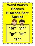 Work Work Phonics Picture Word Sort - R Blends:  BR PR GR CR