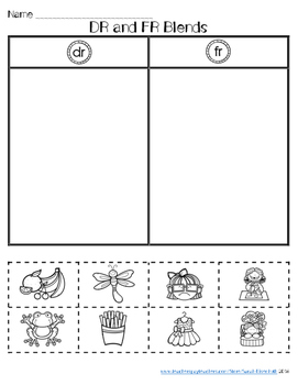 R-Blends Worksheets FREE sample
