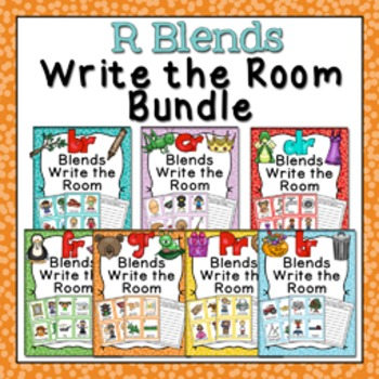 R Blends Write the Room Bundle
