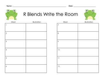 R Blends Write the Room - Common Core