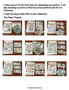 R Blends -br - cr- & dr Literacy Centers