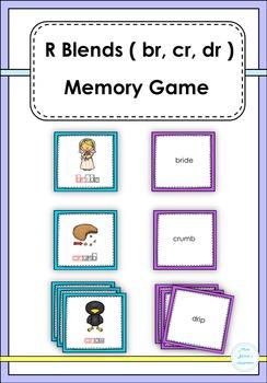 R Blends ( br, cr, dr )  Memory Game