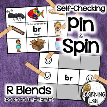 R Blends (br, cr, dr, fr, gr, pr, tr) - Self-Checking Phon