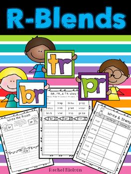 R-Blends (br, pr, tr) Phonics Worksheets (No Prep)