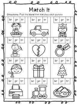 R Blends Br Pr Tr Phonics Worksheets No Prep By Rachel Nielson