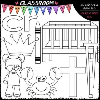 R Blends (cr) Phonics Clip Art - Consonants Clip Art