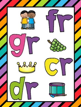 R-Blends (cr, dr, fr, gr) Phonics Worksheets (No Prep)