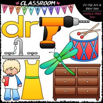 R Blends (dr) Phonics Clip Art - Consonants Clip Art