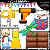 R Blends (dr) Phonics Clip Art - Consonants Clip Art