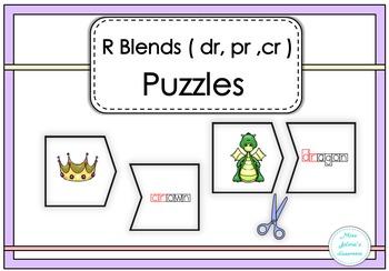 R Blends (dr, pr, cr ) Puzzles