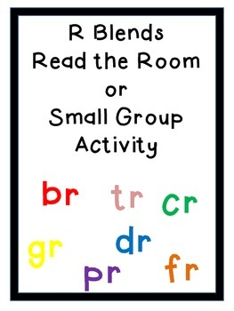 R Blends read the room, small group, blend practice