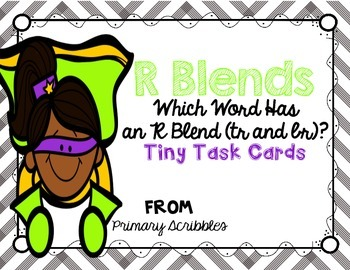 R Blends (tr and br words) Tiny Task Cards