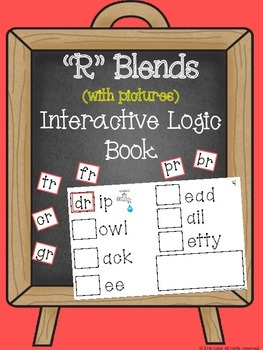 """R"" Blends (with pictures) Interactive Logic Book"