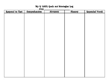 R' CAFE Student Self-Tracking & Teacher Tracking Forms