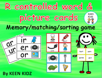 R CONTROLLED VOWEL WORD AND PICTURE CARDS