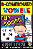 BOSSY R CONTROLLED VOWELS ACTIVITY (PHONICS FLUENCY WORDS FLIP BOOKS READER)