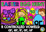 EASTER LITERACY CENTER: R-CONTROLLED VOWELS GAME: EASTER EGG HUNT