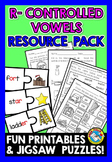 R-CONTROLLED VOWELS WORKSHEETS AND ACTIVITIES (JIGSAW PUZZ