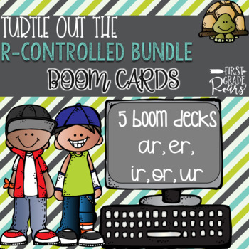 R-CONTROLLED VOWELS TURTLE OUT THE WORD DIGITAL Task BOOM CARDS