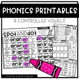 R CONTROLLED VOWELS Worksheets Printables NO PREP Interact