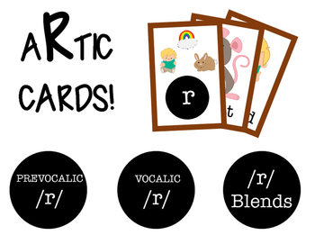 R Cards! Prevocalic /r/, Vocalic /r/, and /r/ blends!