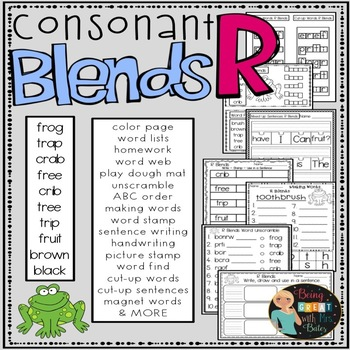 R Consonant Blends Hands-on Spelling and Phonics