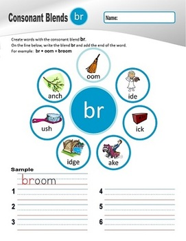 """R"" Family Clusters br/cr/dr/fr/gr/pr/tr  (#1 of 4 Phonemic Awareness Sorts)"