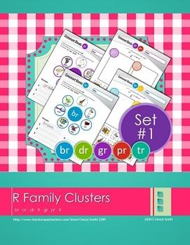 """R"" Family Clusters br/cr/dr/fr/gr/pr/tr  (#1 of 4 Phonemic Awareness Sorts)"