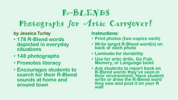 R Consonant Clusters: Articulation Photographs for Speech Therapy Carryover