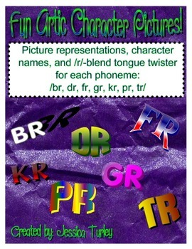 R Consonant Clusters - Posters and Tongue Twisters for Art