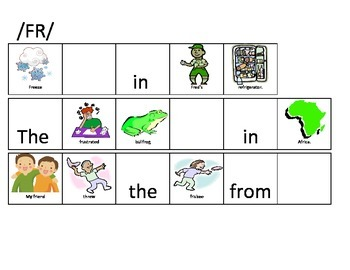 R Consonant Clusters-Fill in the Blank Sentences for Articulation Drills
