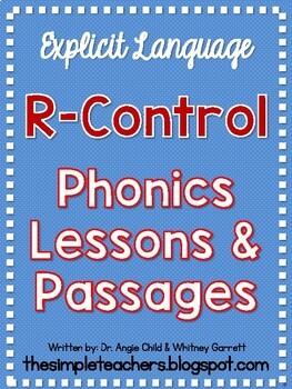 R-Control Explicit Phonics Lessons and Decodable Passages